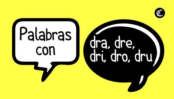 En el idioma español existen las combinaciones de dos letras que dan lugar a un nuevo fonema. ¿Qué palabras se escriben con dra, dre, dri, dro y dru? (Foto: Composición)