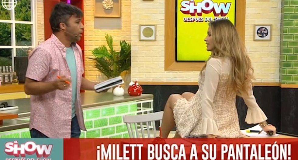 """Milett Figueroa puso nervioso a Renzo Schuller al recrear escena de """"Pantaleón y las visitadoras"""". (Foto: Captura)"""