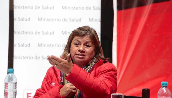 """La ministra de Salud destacó el """"desprendimiento"""" que ha mostrado el presidente Vizcarra con la propuesta de adelanto de elecciones. (Foto: Minsa)"""