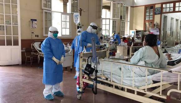 El paciente de 46 años de edad logró ser dado de alta el pasado lunes tras vencer el COVID-19. (Foto: Hospital Loayza)