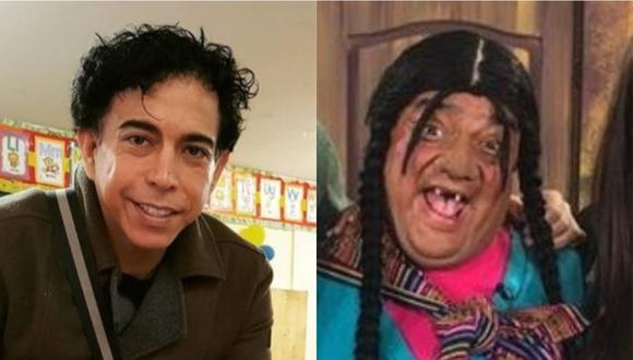 A la izquierda Ernesto Pimentel, actor cómico peruano. A la derecha, Jorge Benavides caracterizado como la Paisana Jacinta; personaje que no volverá a la televisión. (Foto: @lacholachabuca/@jbjorgebenavides)