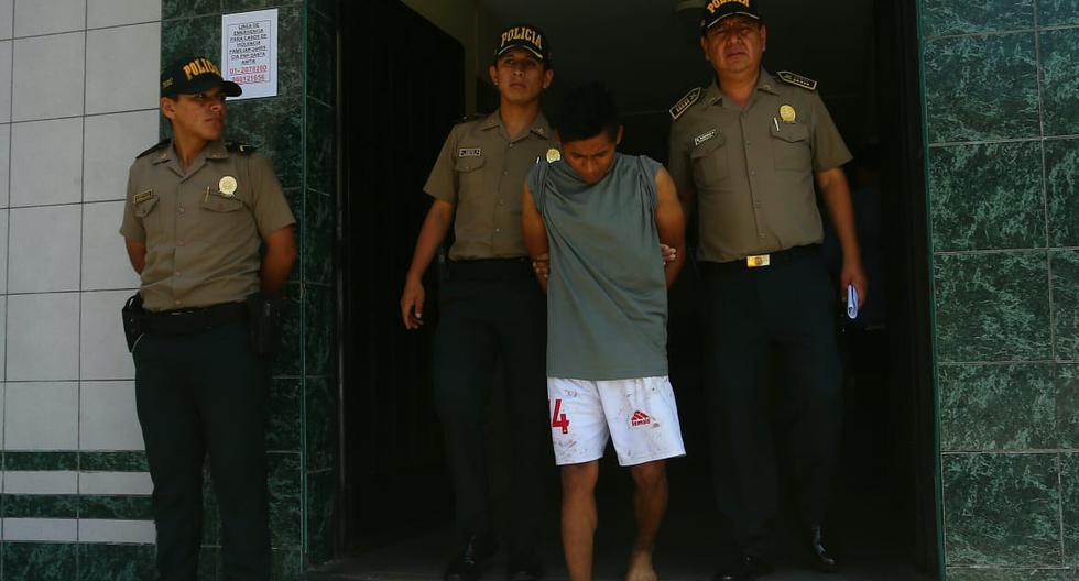 Leodan Murayari Panquiez fue denunciado por su pareja luego de moderle la nariz e intentar atacarla con objetos punzantes en el distrito de Santa Anita. (Foto: Gonzalo Córdova  / GEC)