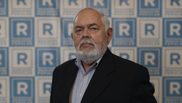 """Jorge Montoya anunció que promoverá una ley para que """"los partidos comunistas"""" no puedan participar de las elecciones. (Foto: César Campos / El Comercio)"""