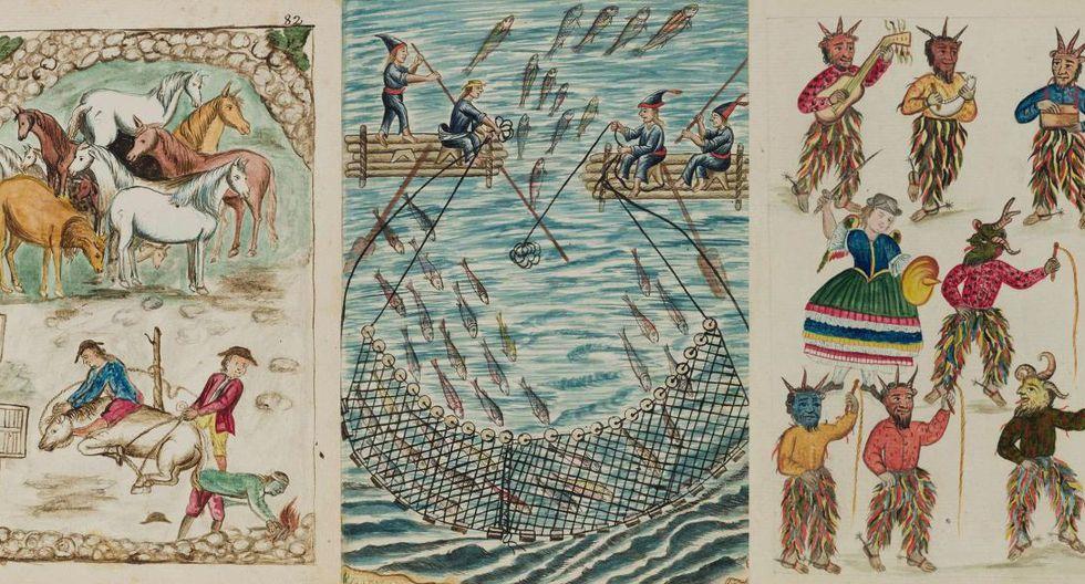 En su totalidad, el códice está formado por más de 1.400 acuarelas. El volumen que se encuentra actualmente en disputa tiene 136.