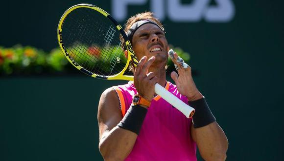 Rafael Nadal se tuvo que retirar de Indian Wells por problemas en su rodilla derecha. (Foto: AFP)