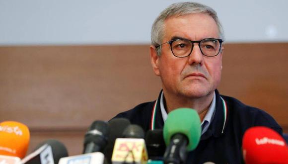 Borrelli ha presentado diariamente ante los medios, desde casi el inicio de la crisis del coronavirus en Italia, los datos actualizados sobre contagiados, fallecidos y curados de la pandemia, pero este miércoles esta comparecencia no tendrá lugar. (Reuters).