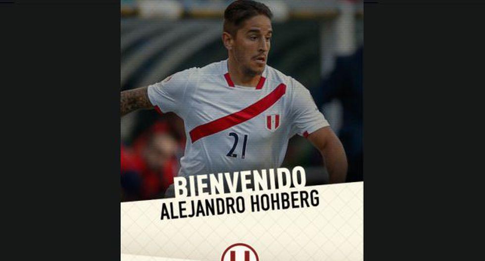Universitario de Deportes confirmó mediante sus redes sociales la vinculación de Alejandro Hohberg con la institución crema por tres años. | Foto: captura