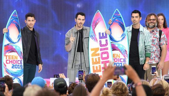 Jonas Brothers recibieron premio a la década. (Foto: AFP)