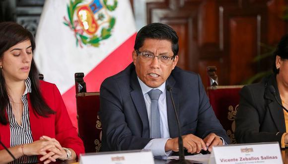 El presidente del Consejo de Ministros, Vicente Zeballos, liderará nuevo encuentro con bancadas. (Foto: Difusión)
