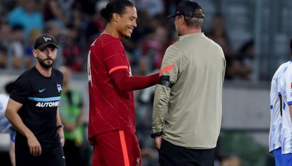 Virgil Van Dijk reapareció con Liverpool después de una grave lesión. (Foto: Liverpool)