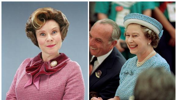 """Imelda Staunton interpretará a la Reina Isabel II en """"The Crown"""" temporada 5. La actriz dio vida a la profesora Umbridge en """"Harry Potter"""". Fotos: Difusión/ AFP."""