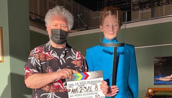 """""""The Human Voice"""" es un corto de 30 minutos de Pedro Almodóvar y tendrá su debut en inglés en el Festival de Cine de Nueva York . (Foto. @tildaswintonislove)"""