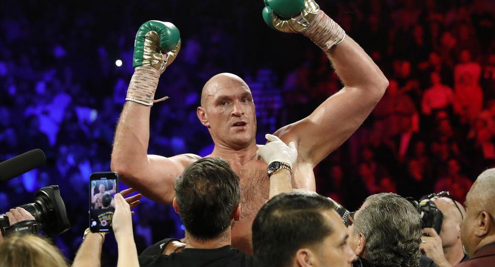 Tyson Fury humilló a Wilder y se coronó como el nuevo campeón peso pesado del CMB | Foto: Agencias