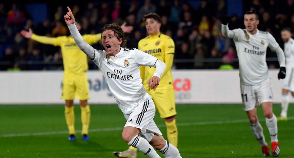 Luka Modric convirtió el 3-1 pero fue invalidado por posición adelantada. | Foto: AFP