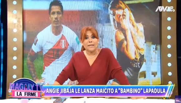 "Magaly Medina sobre mensaje de Angie Jibaja a Gianluca Lapadula: ""Debe estar debe aterrorizado"". (Foto: Captura de video)"