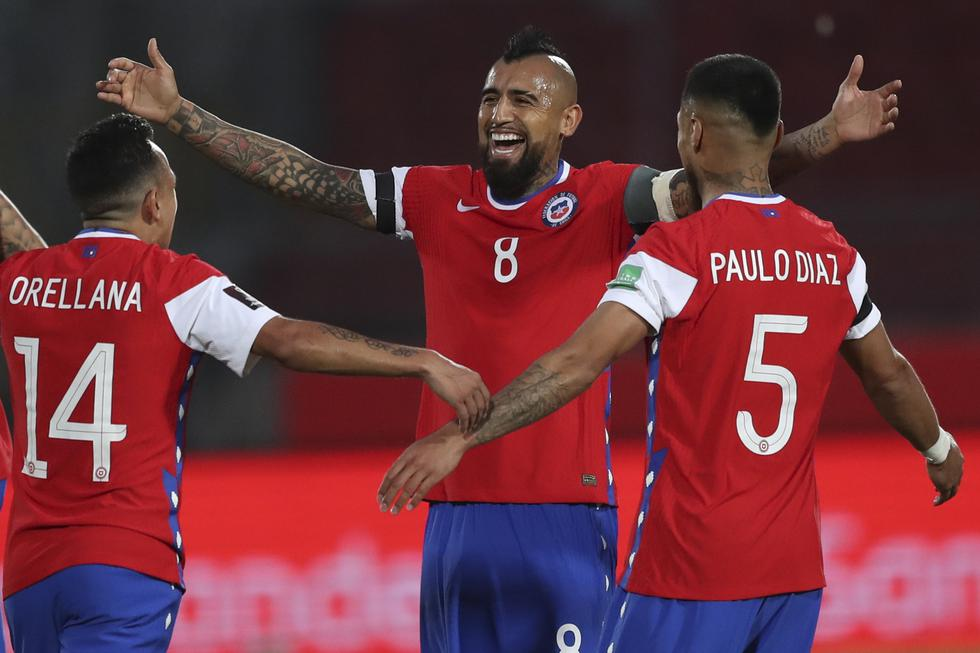 Chile -  Perú, por Eliminatorias Qatar 2022. (Foto: AFP)