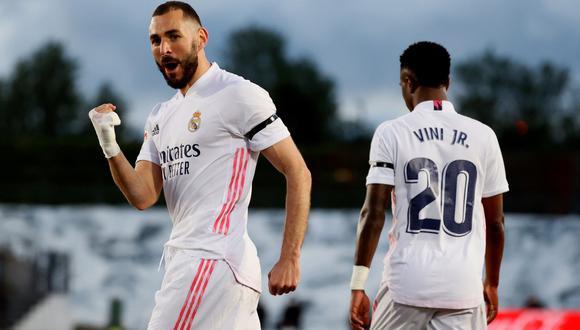 Karim Benzema y Vinicius Jr. son parte de la columna vertebral del Real Madrid. (Foto: EFE)