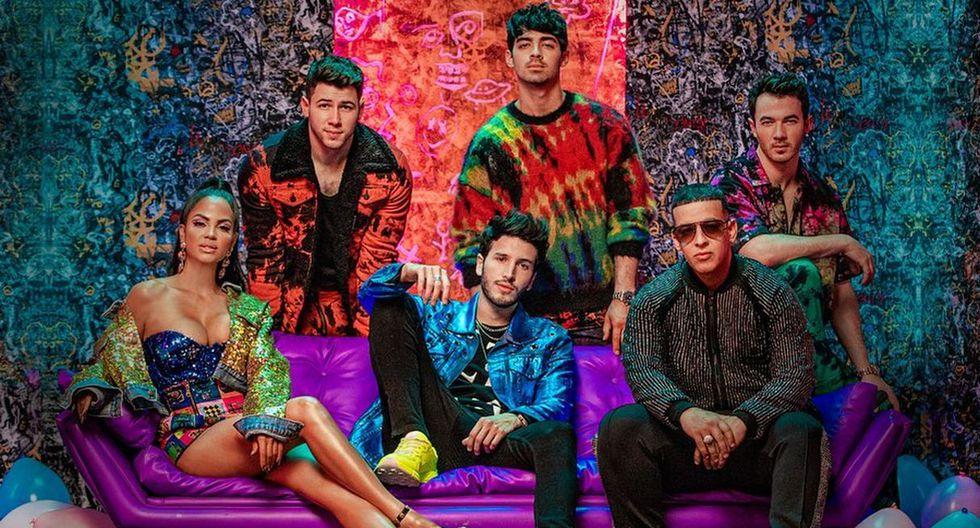 Natti Natasha, Daddy Yankee y Sebastián Yatra fueron la sorpresa del primer show de los Jonas Brothers. (Foto: Captura)