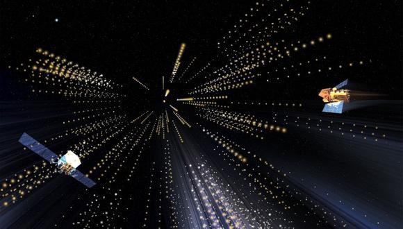 El 14 de enero de 2019, el observatorio Cherenkov de Imágenes Gamma Atmosféricas Principales (MAGIC) en las Islas Canarias capturó la luz de mayor energía registrada en un estallido de rayos gamma. (Imagen: NASA / Fermi y Aurore Simonnet, Sonoma State University)