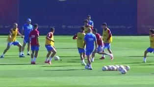 El Barcelona continúa con su preparación para el partido ante el Granada