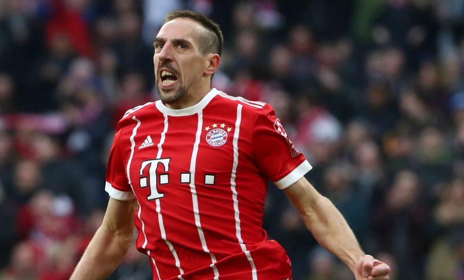 """El portal """"Abendzeitung"""" indicó que Franck Ribéry quiere quedarse en el Bayern Múnich, pero si no lo consigue podría aceptar las ofertas de la Superliga China, que llegan cada semana. (Foto: AFP)"""
