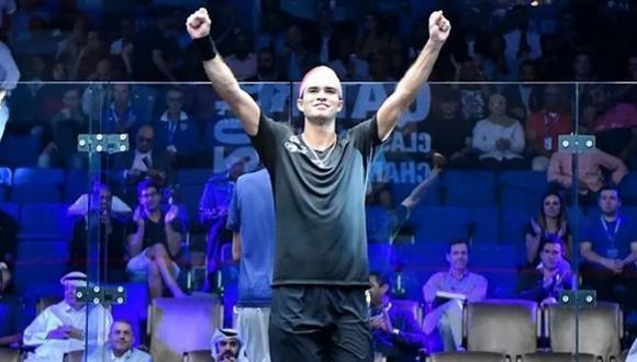 Diego Elías cayó en la final ante Abouelghar en The Motor City Open de squash. (Foto: ederación Peruana de Squash Racket).