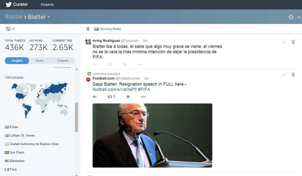 Twitter: Blattler y FIFA entre lo más comentado de la red - 2