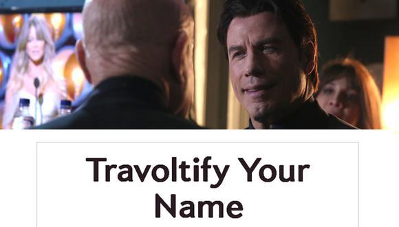 Una app para decir tu nombre al estilo John Travolta