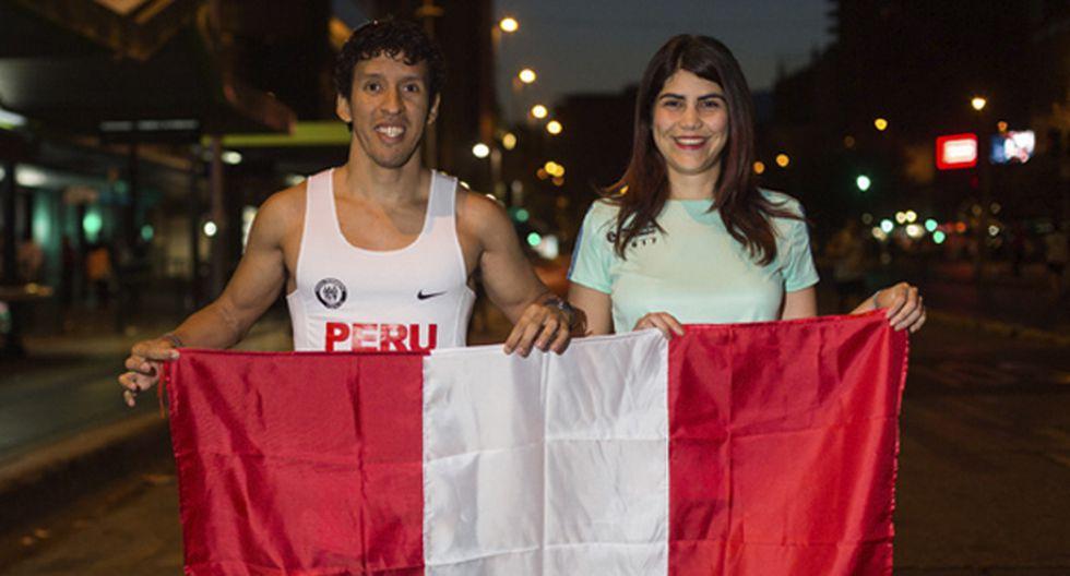 Claudio y Alessandra corrieron junto a otros 171 peruanos en la Maratón de Santiago 2017.