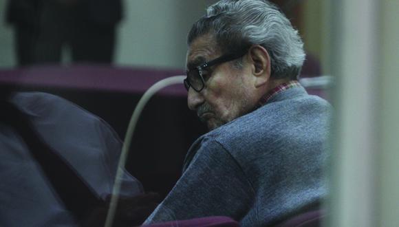 Guzmán en uno de los juicios que enfrentó en el fuero civil por las atrocidades que cometió el sanguinario grupo terrorista que lideró por más de una década. (Foto: Archivo GEC)