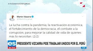 """Presidente Vizcarra tras rechazo de vacancia: """"Desafíos nos exigen actuar con sensatez"""""""