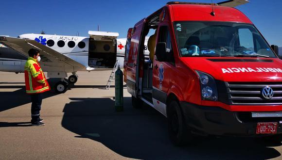 Huancavelica: médica delicada por COVID-19 abordó avioneta y fue trasladada a Lima (Foto: Gobierno Regional de Huancavelica)