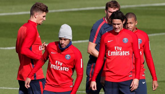 Neymar y Cavani: ¿nula interacción durante entrenamientos del PSG? (Video: Youtube/Foto: AFP)