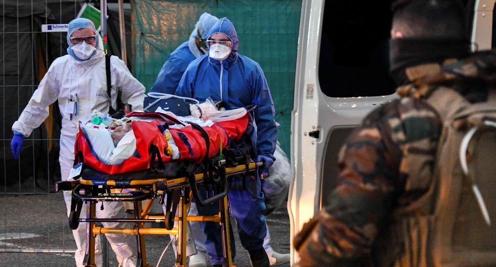 El coronavirus causó 292 muertes en Francia en las últimas 24 horas. (AFP / SEBASTIEN BOZON).