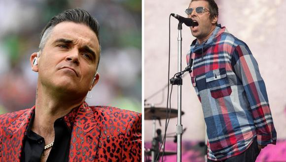 El músico Robbie Williams criticó el trabajo de Liam Gallagher en su banda Beady Eye. (AFP).