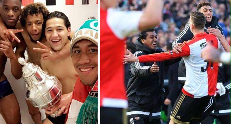 Feyenoord de Renato Tapia se consagró campeón de Copa Holanda