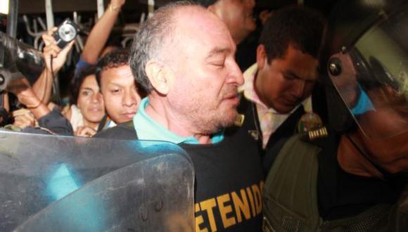 Suspendido alcalde de Chiclayo fue trasladado al penal de Picsi