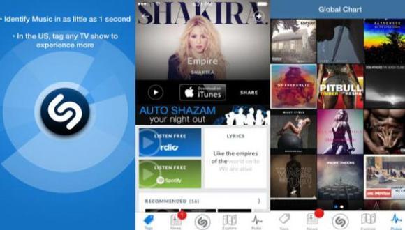 La app es capaz de identificar una canción con tan solo escuchar un fragmento de ella. (Foto:  Shazam)