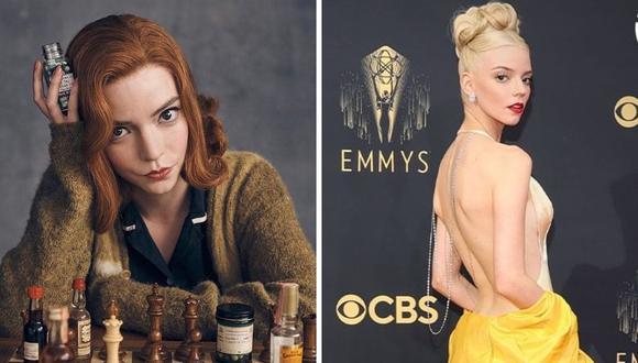 """La protagonista de la serie """"Gambito de Dama"""" compite en la categoría de mejor actriz por la miniserie de Netflix. (Foto: Istagram @tntlatam / @anyataylorjoy)"""