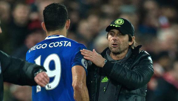 """De acuerdo con el medio """"The Sun"""", el valor de Diego Costa podría sufrir una devaluación en el mercado de transferencias por culpa de Antonio Conte. (Foto: EFE)"""