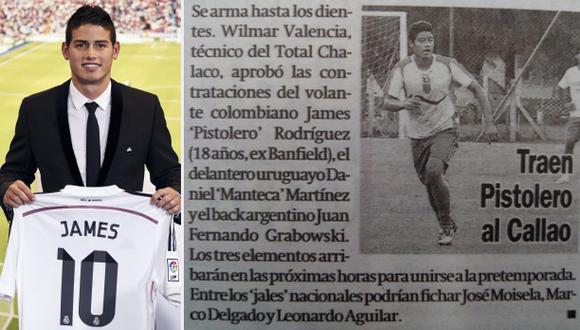 ¿James Rodríguez estuvo en los planes del Total Chalaco?