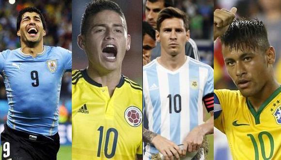 Eliminatoria sin brillo: Messi, Neymar, Suárez y James ausentes