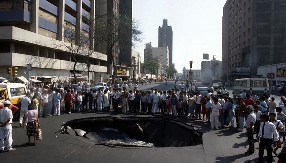 LIMA, 29 DE ENERO DEL 1991. Así amaneció la capital ese día. Foto: Archivo Histórico de El Comercio.