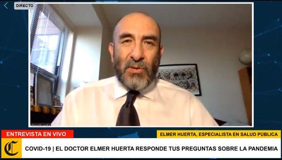 Entrevista al doctor Elmer Huerta. (Foto: Captura de video)