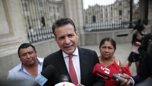 El parlamentario de Alianza para el Progreso dijo que solamente cuatro bancadas, incluyendo la suya, respaldan la opción de la eliminación total de la inmunidad. (Foto: GEC)