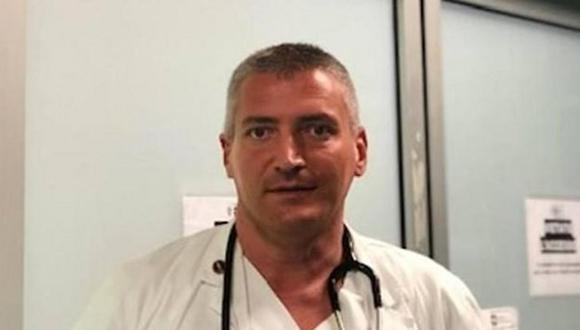 El médido Carlo Mosca ha sido acusado de asesinar a dos pacientes con coronavirus para liberar las camas del hospital donde laboraba. (Foto: Twitter)