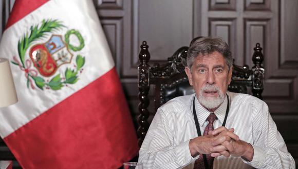El presidente Franscisco Sagasti dio el martes 26 su más sombrío mensaje y decretó la cuarentena en 10 regiones debido a la crisis por coronavirus. (Foto: Andina)