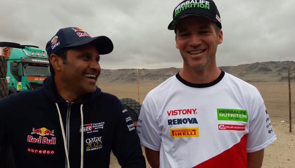 Líder del Dakar 2019 en coches habló con El Comercio sobre el piloto peruano Nicolás Fuchs. (Video: Christian Cruz Valdivia)