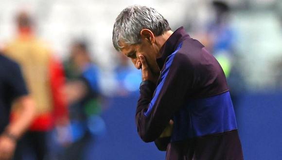 Quique Setién lleva a Barcelona a los tribunales. (Foto: AFP)