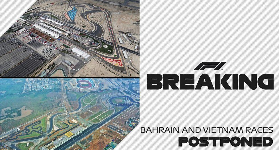 La FIA ha decidido cancelar el Gran Premio de Bahréin y Vietnam. Anteriormente ya se habían suspendido las citas en Australia y China. (Fotos: F1).